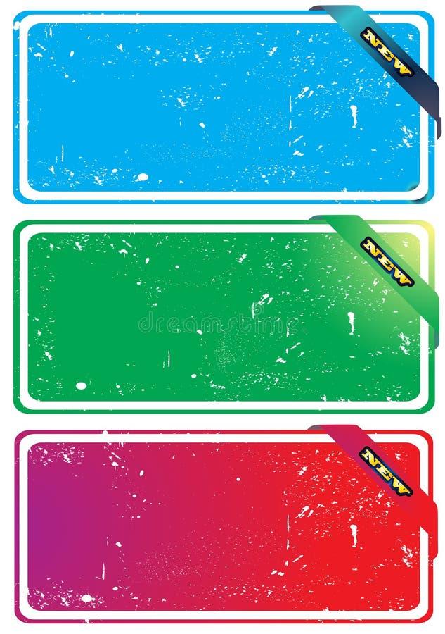 Three grunge banner