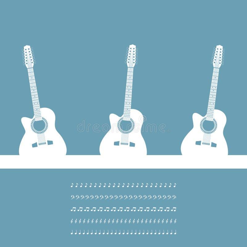Three guitars royalty free illustration