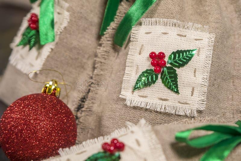 Three handmade sacks royalty free stock images