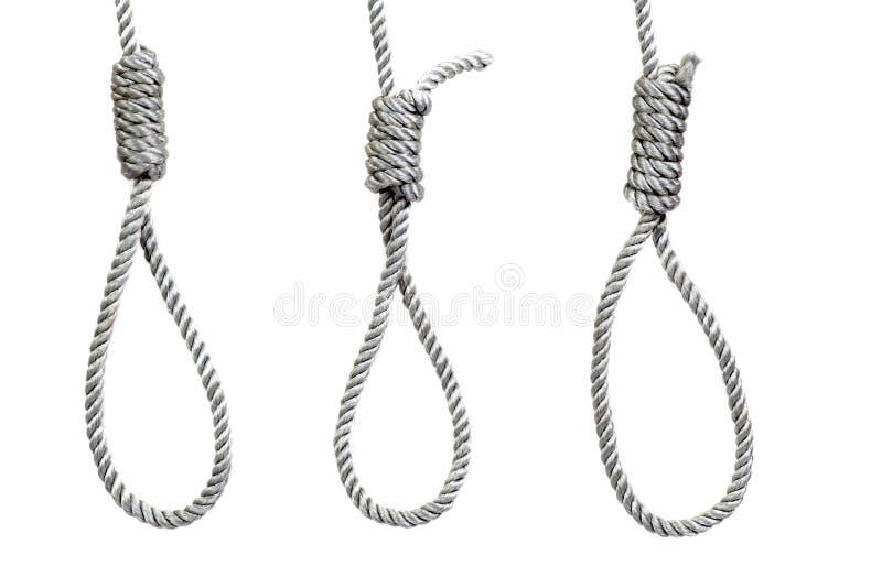 Three hanging noose ropes stock image. Image of criminal - 35746833