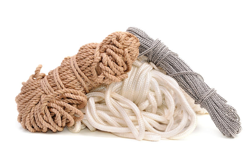 Download Three hanks of a rope. stock image. Image of twisted - 17222063