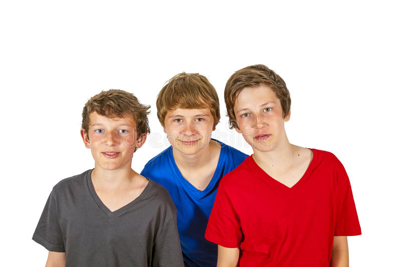 Download Three Happy Friends Stick Together Stock Image - Image: 26164597