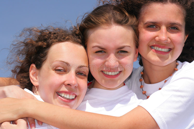 Download Three Happy Girl Stock Photography - Image: 2682232