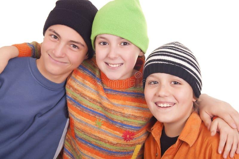 Three Happy Teenagers Stock Images