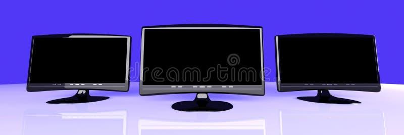 Three HDTVs Royalty Free Stock Image