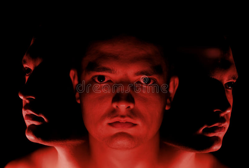 Download Three headed man stock image. Image of shadow, attractive - 26171203