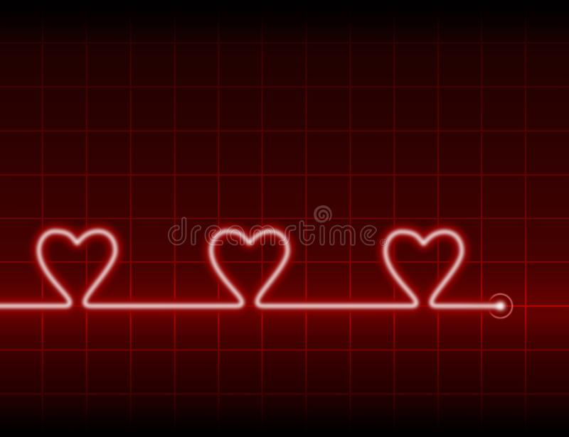 Three hearts stock images