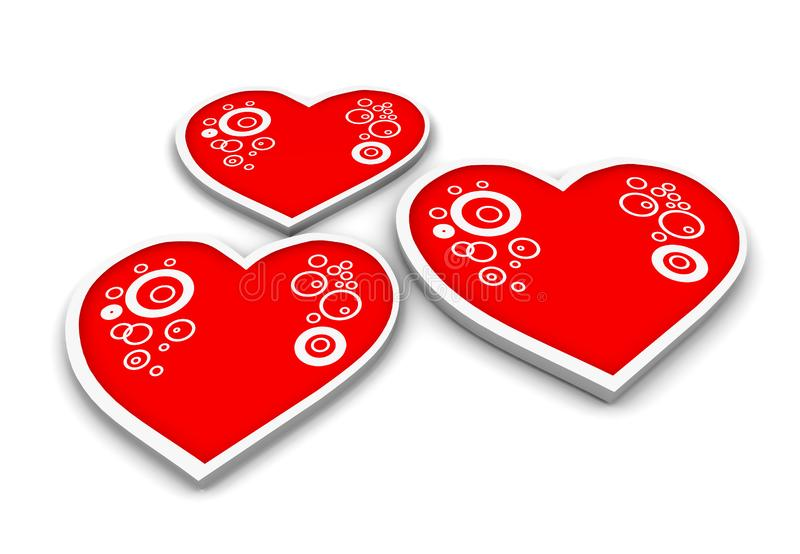 Download Three Hearts stock illustration. Image of hearts, pattern - 2762079