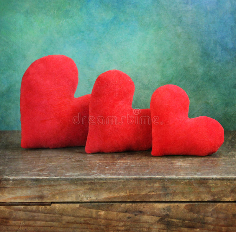 Three hearts royalty free stock images