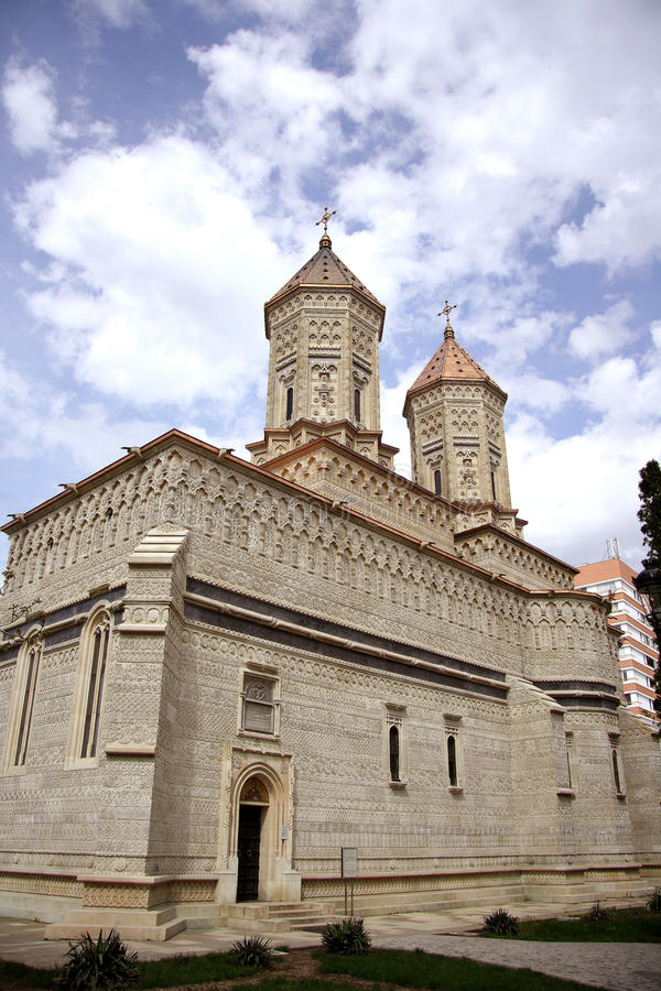 Three Hierarchs church in Iasi (Romania). The 17th century Three Hierarchs church in the capital of the Moldavia region Iasi (Romania). The most beautiful royalty free stock photography