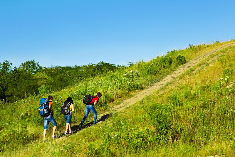 Download Three Hikers Stock Photo - Image: 27961540