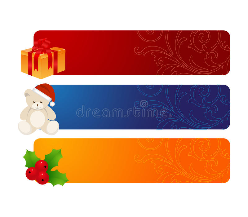 Download Three horizontal banners stock vector. Illustration of bear - 12016380