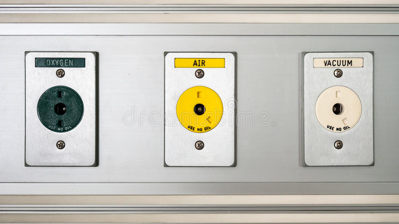 Three hospital plugs. royalty free stock image