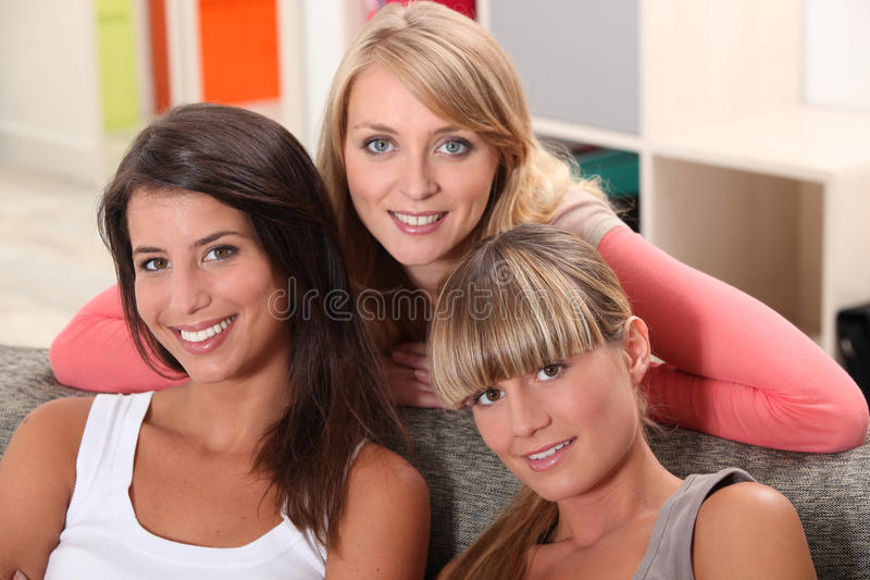 Download Three housemates stock image. Image of room, mates, indoors - 29296447