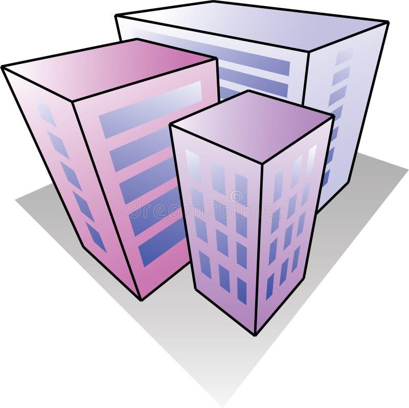 Three houses stock illustration