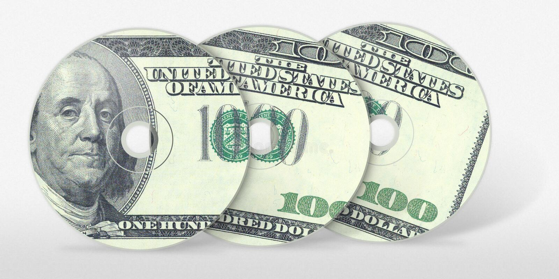 Three Hundred Dollar Cd Royalty Free Stock Image