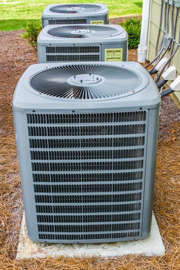 Three HVAC Units royalty free stock photos