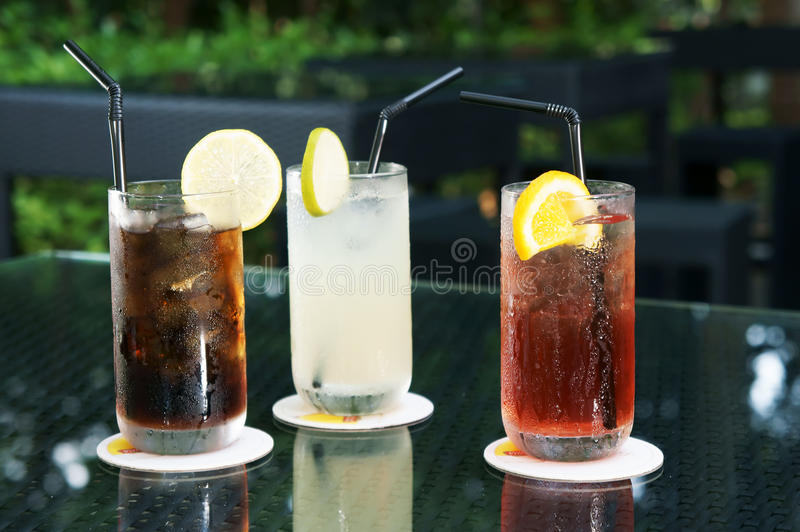 Download Three ice cold drinks stock image. Image of juice, juicy - 21002433