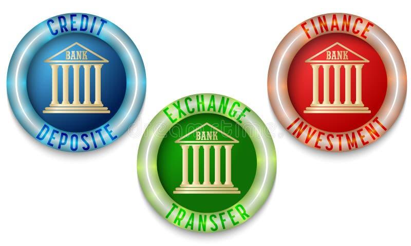 Three icons stock illustration