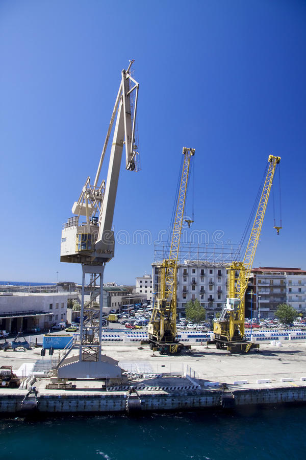 Download Three industrial cranes stock image. Image of concrete - 10249545