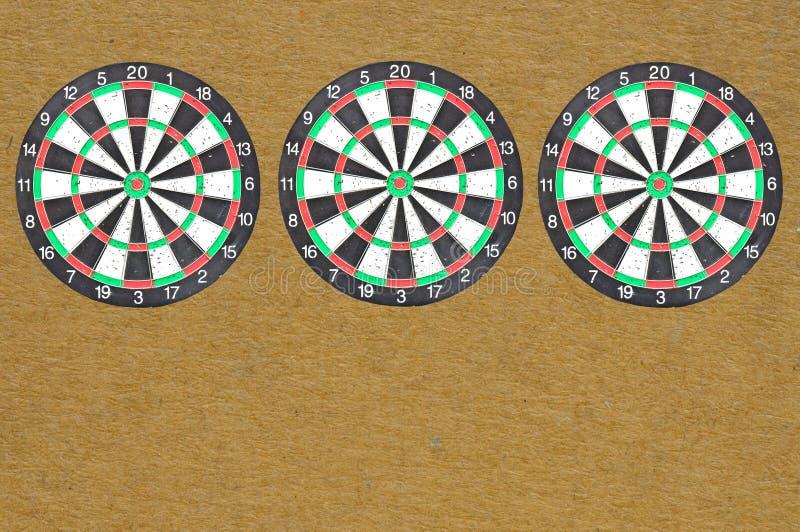 Three isolate dartboard