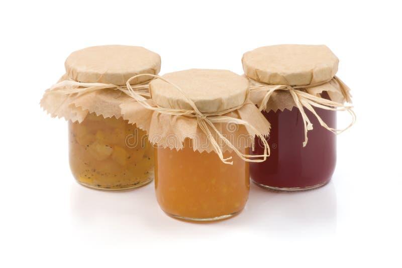 Download Three jars of homemade jam stock photo. Image of berry - 18741928