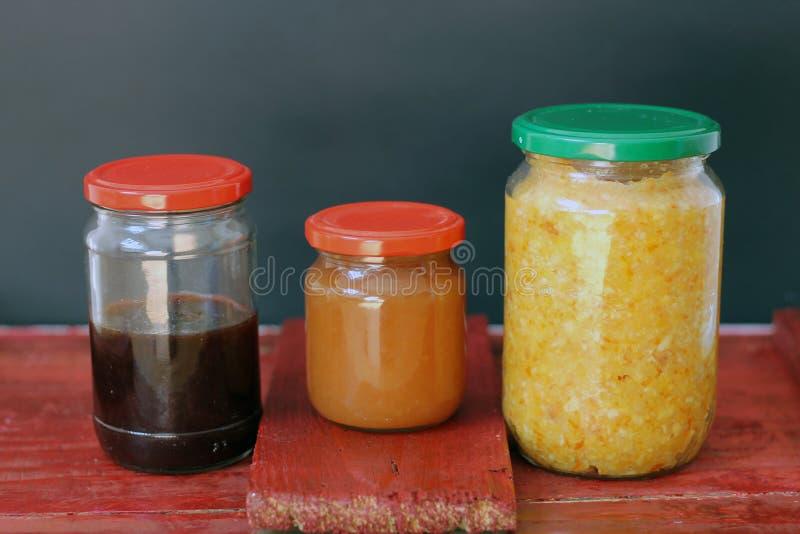 Three jars royalty free stock photos