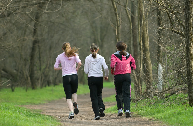Download Three joggers stock image. Image of healthy, outdoors - 2300719