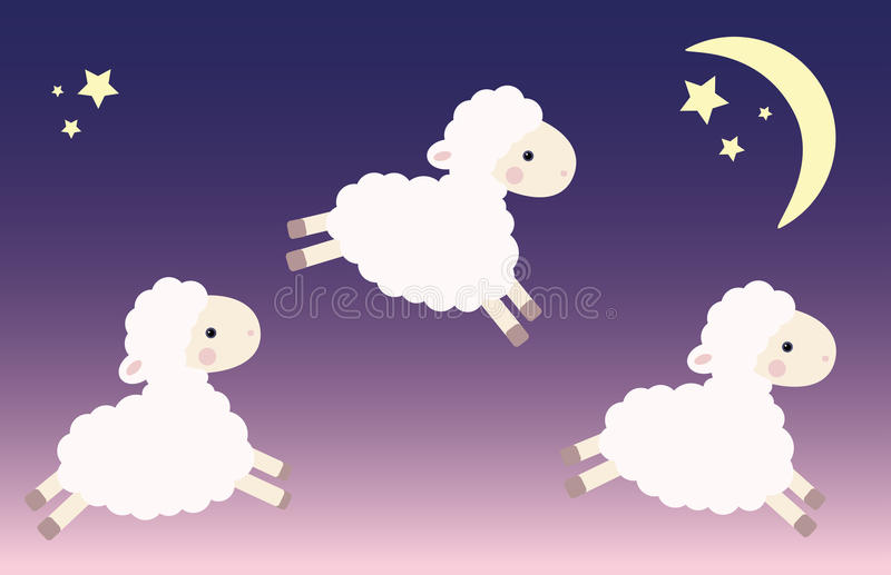 Three jumping lambs royalty free stock image