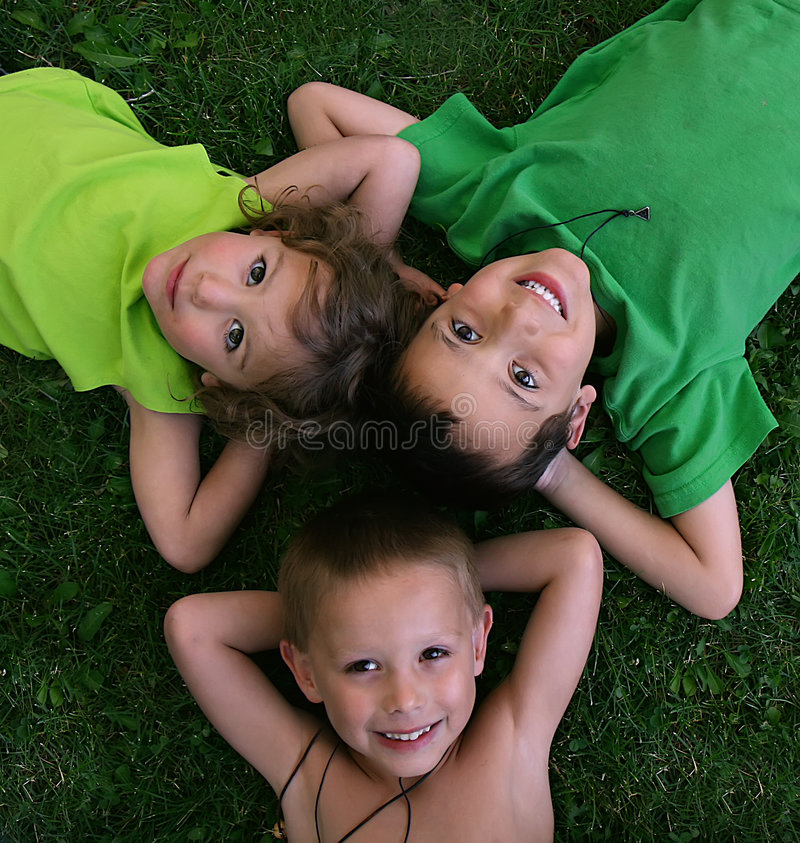 Download Three kids stock image. Image of friends, playing, male - 5730803