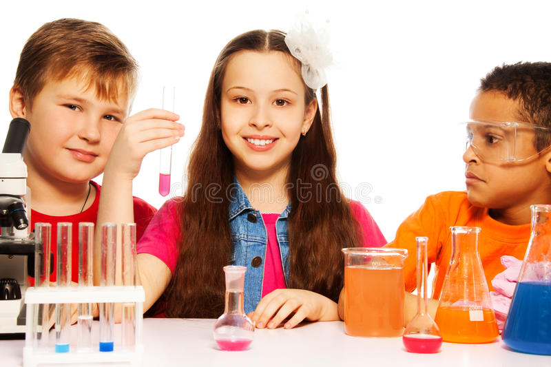 Download Chemistry class team stock image. Image of clever, glasses - 29947893