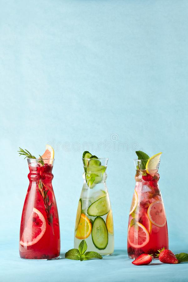 Summer fresh drinks stock image