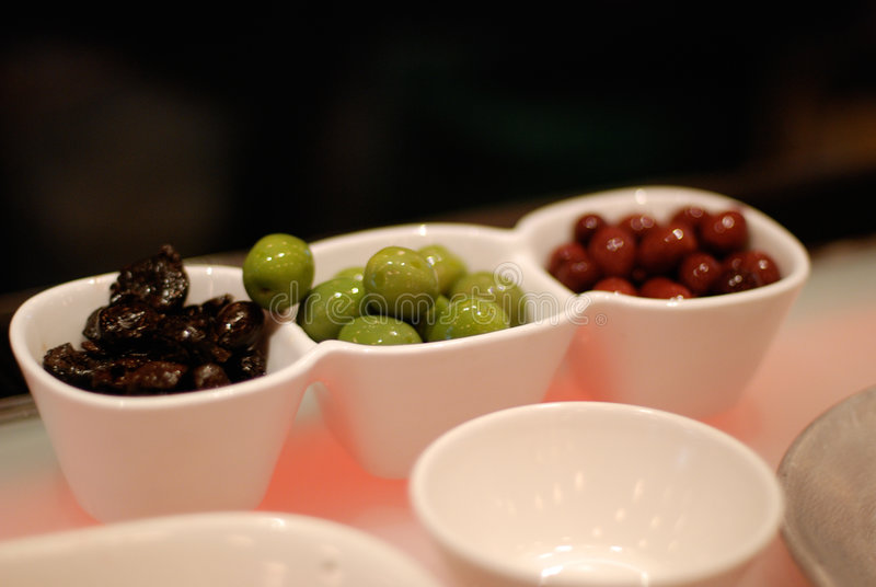 Three Kinds of Olives royalty free stock photo