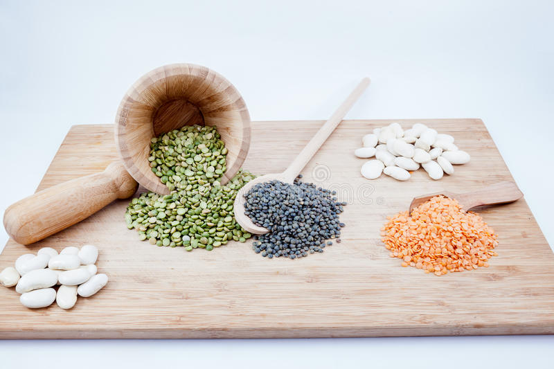 Three kinds of seeds stock image