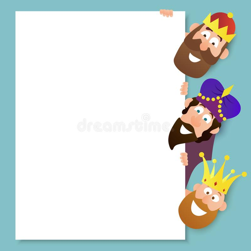 Three Kings. Vector illustration on the theme of Three Kings. Epiphany day royalty free illustration