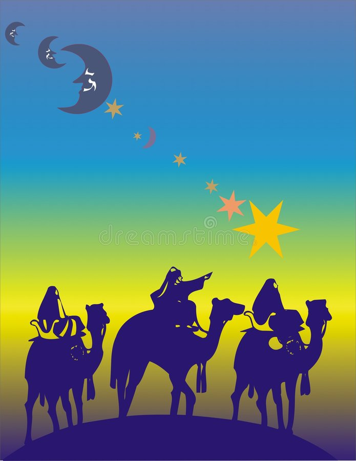 Three kings royalty free illustration
