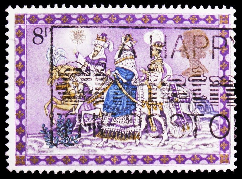 The Three Kings, Christmas 1979 - Nativity Scenes serie, circa 1979 royalty free stock photos