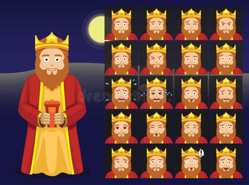 Three Kings Gaspar Cartoon Emoticons Vector Illustration. Cartoon Emoticons EPS10 File Format vector illustration