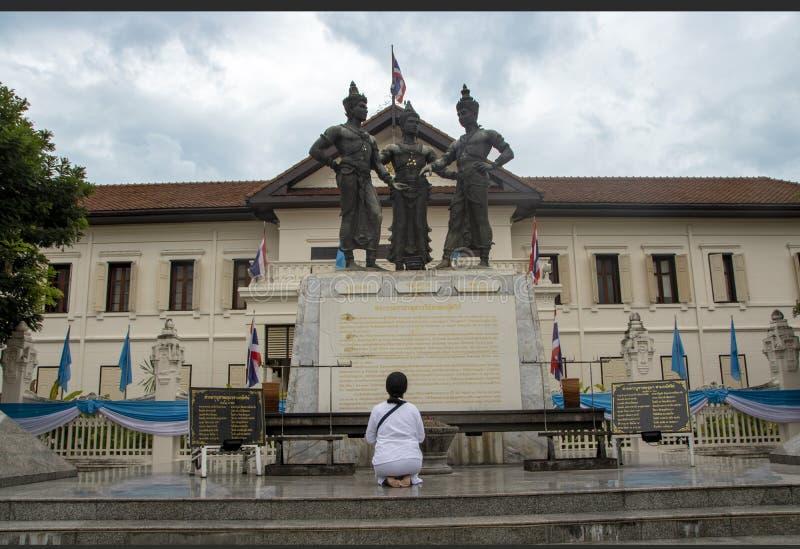 Three kings monument stock photo