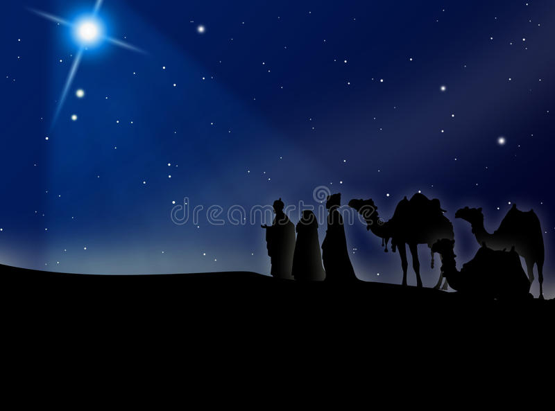The Three Kings of Orient. Road Belem royalty free illustration