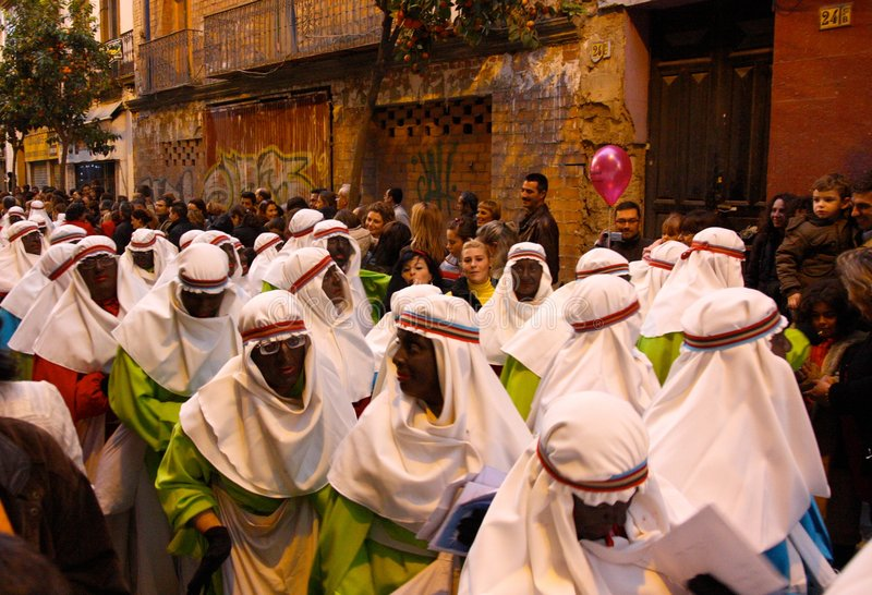 Download Three Kings Parade In Seville, Spain Editorial Photography - Image of horses, presents: 7655817