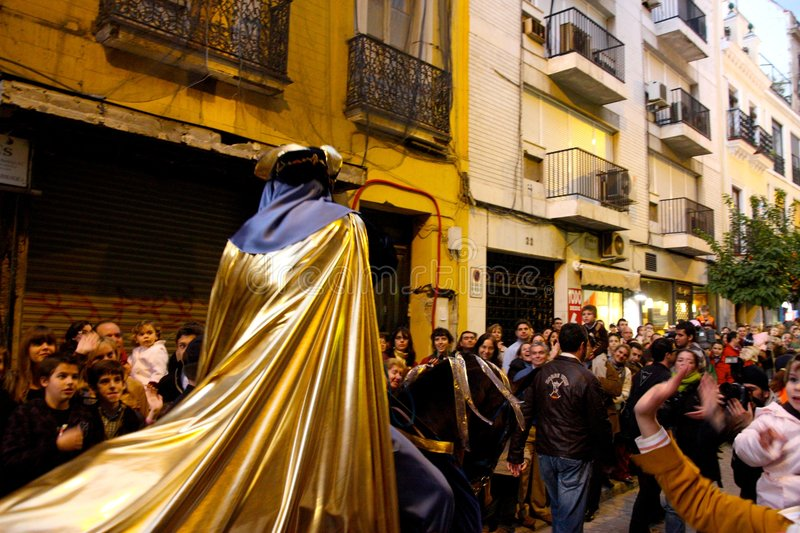 Download Three Kings Parade In Seville, Spain Editorial Stock Photo - Image: 7655873