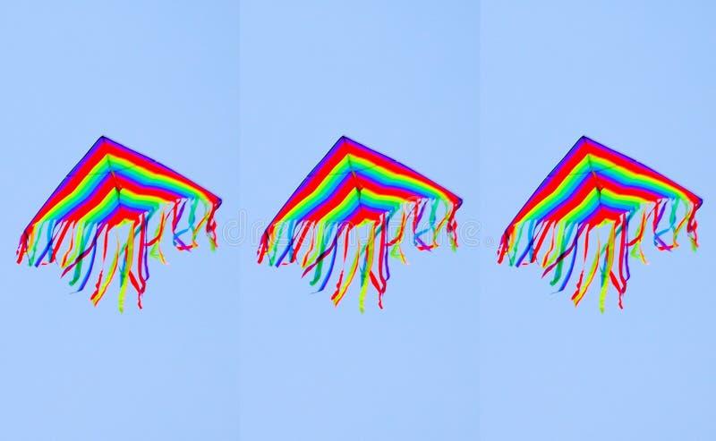 Three kites royalty free stock images