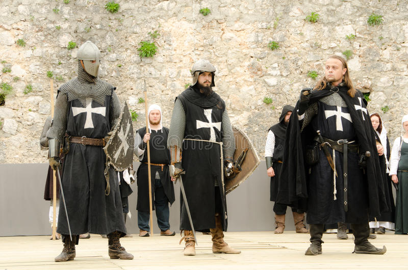 Download Three knight editorial image. Image of practicing, film - 30824680