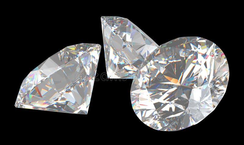 Download Three Large Brilliant Cut Diamonds Stock Illustration - Illustration: 15777982