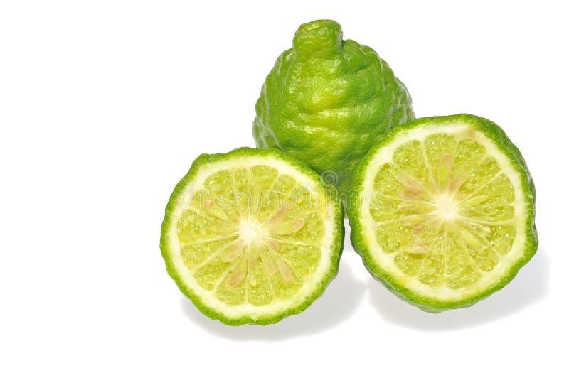 Three leech lime fruits royalty free stock image