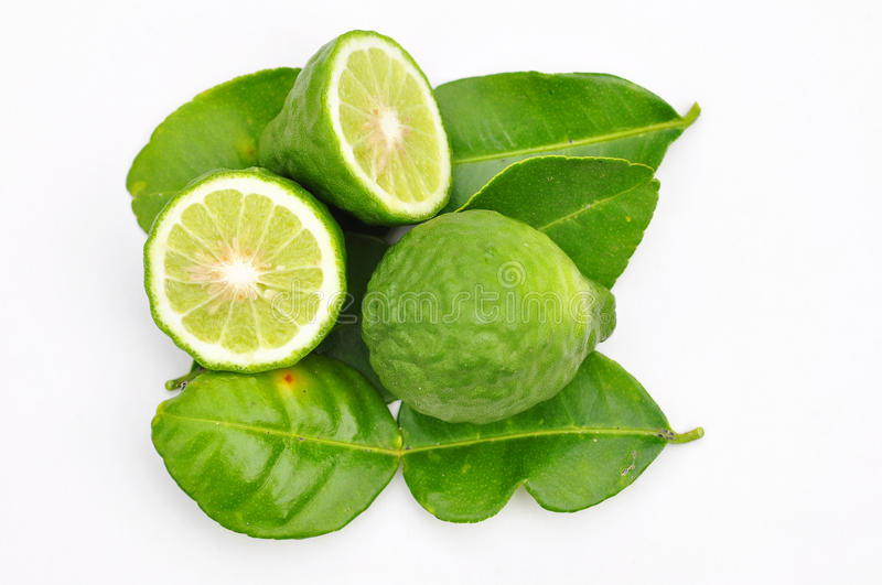 Three leech lime fruits isolated royalty free stock photography
