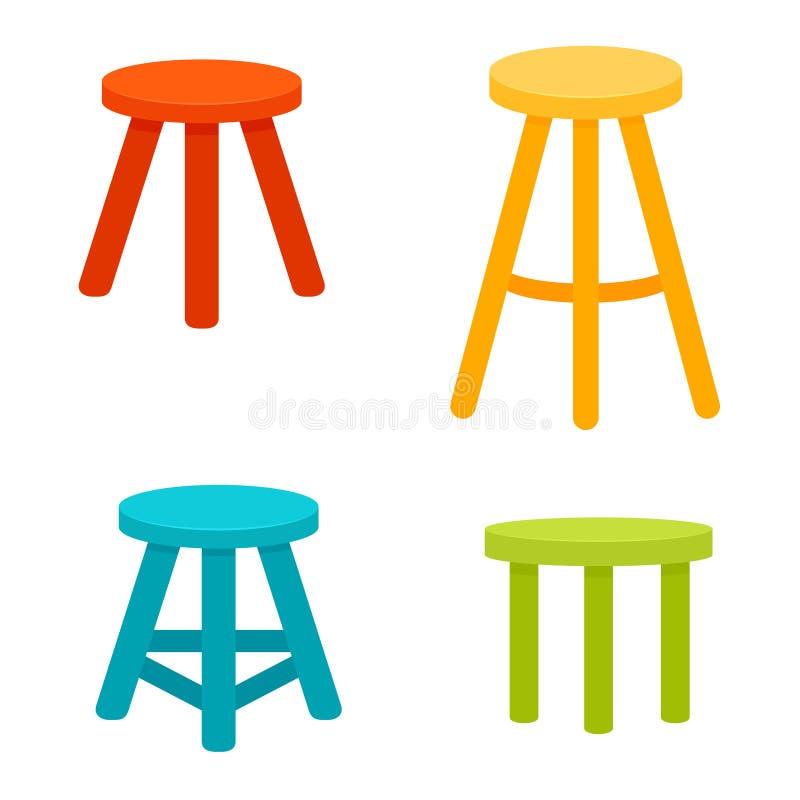 Free Three Legged Stool Set. Royalty Free Stock Images - 118938429