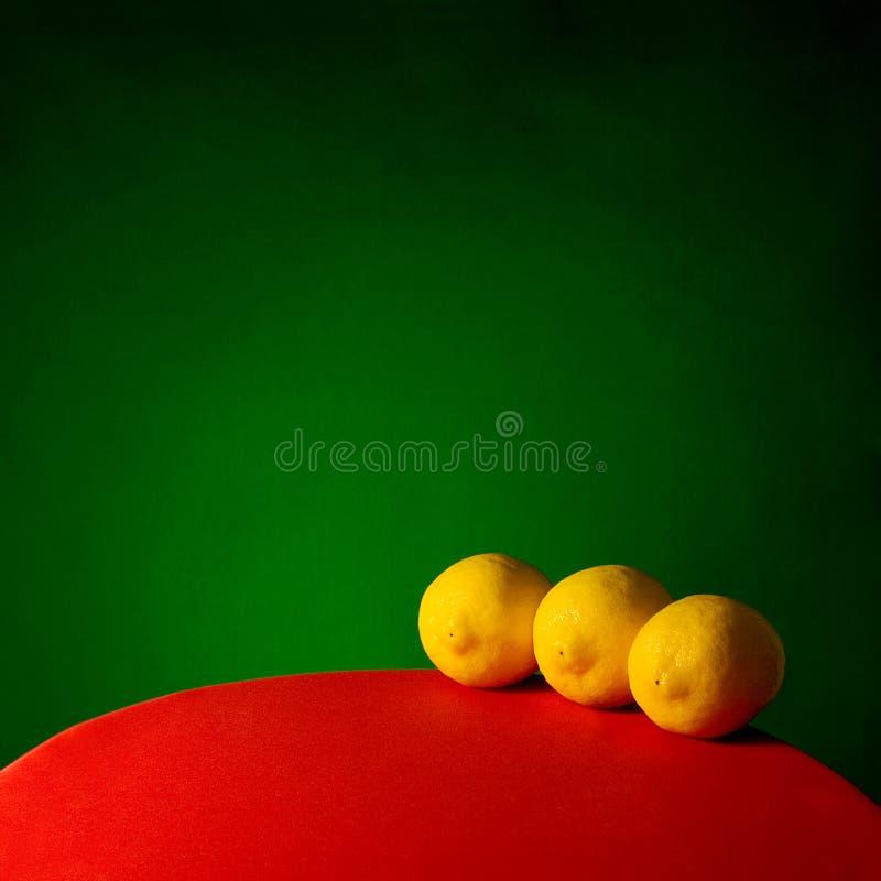 Three Lemons royalty free stock image