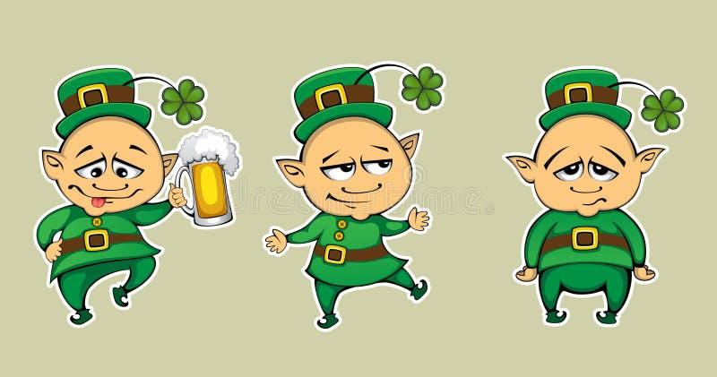 Download Three leprechaun stock vector. Image of green, illustration - 23731297